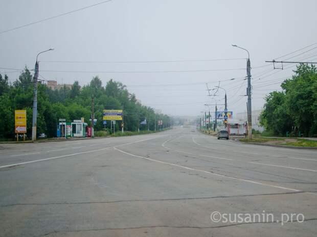 В Ижевске вновь ограничили движение транспорта по улице 9-е Января