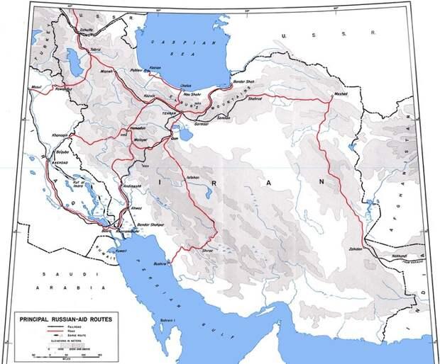 Карта путей Трансиранского маршрут