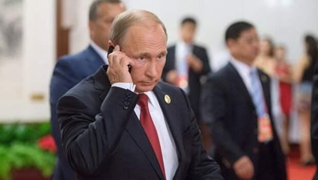 Путин поговорил с Порошенко по телефону