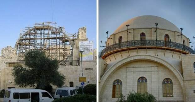 12 величайших сооружений-шедевров до и после их полной или частичной реконструкции