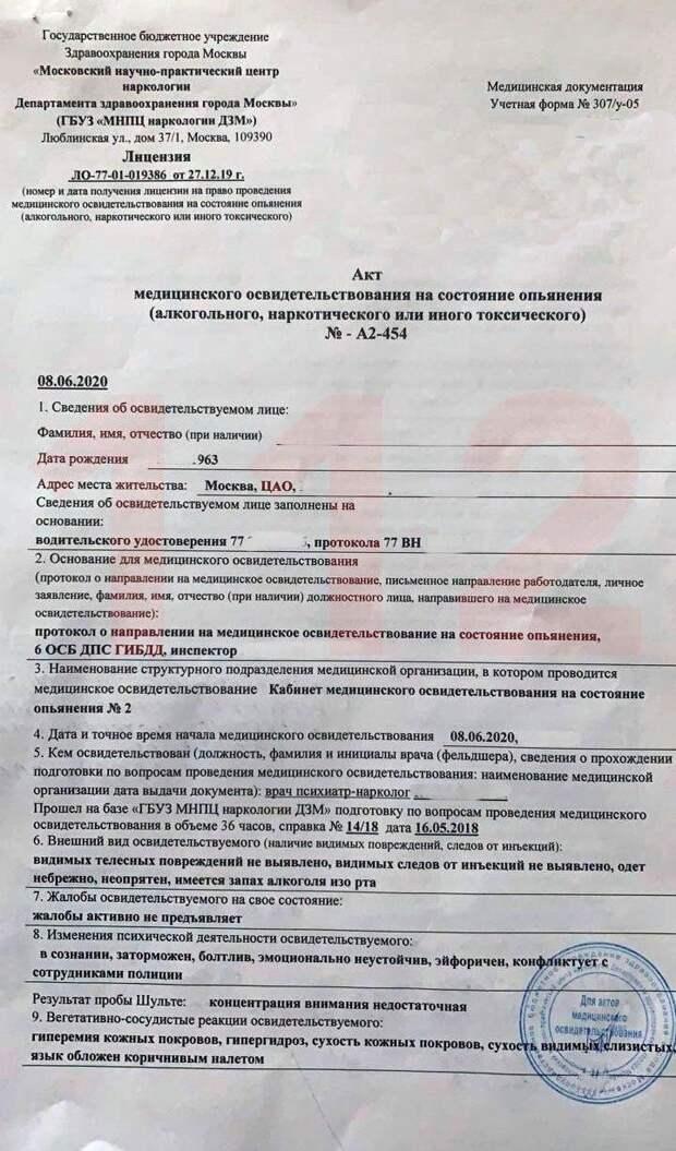 В крови актера Ефремова нашли следы кокаина и марихуаны
