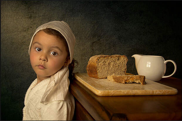 Снимки дочери в стиле картин XVII-XVIII веков. Проект фотографа Билла Гекаса (Bill Gekas)