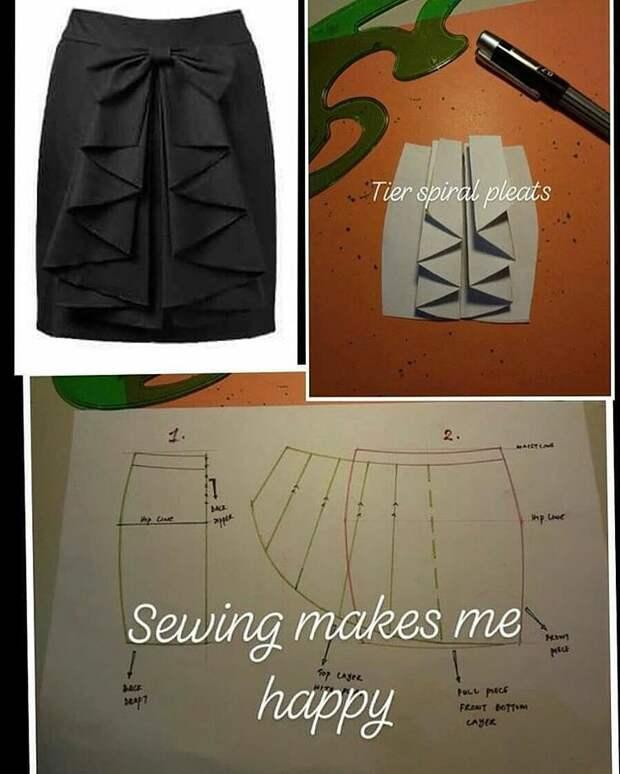 Моделирование юбок сложных фасонов 3