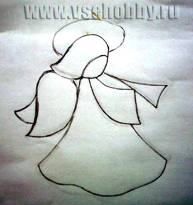 Витражный ангел в стиле Тиффани