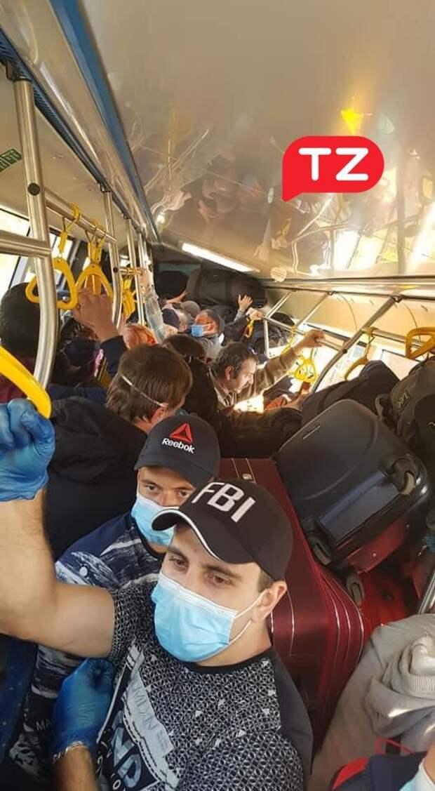 автобус на границе