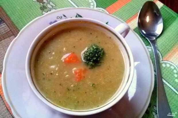 Суп из брокколи диетический