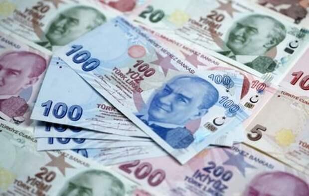 Банкноты турецкой лиры различных номиналов, 7 января 2014 года. REUTERS/Murad Sezer