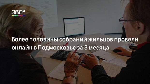 Более половины собраний жильцов провели онлайн в Подмосковье за 3 месяца