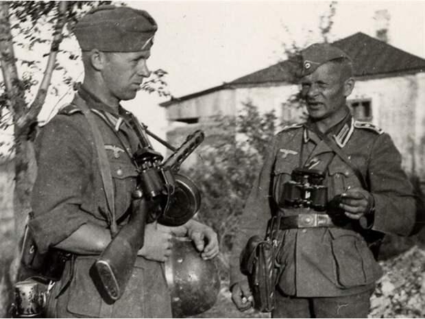 Немцы и трофейные советские ППШ