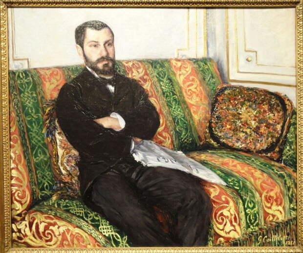 Portrait of Richard Gallo; 1881; Gustave Caillebotte, (1848-1894)  Nelson-Atkins Museum of Art, Kansas City, Missouri, USA..