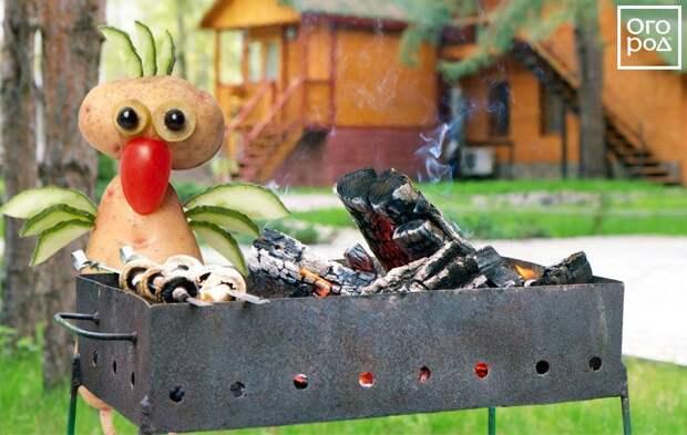 Коллаж - курица и шашлык