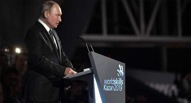 Путин: российская сборная WorldSkills показала очень хорошие результаты в Казани