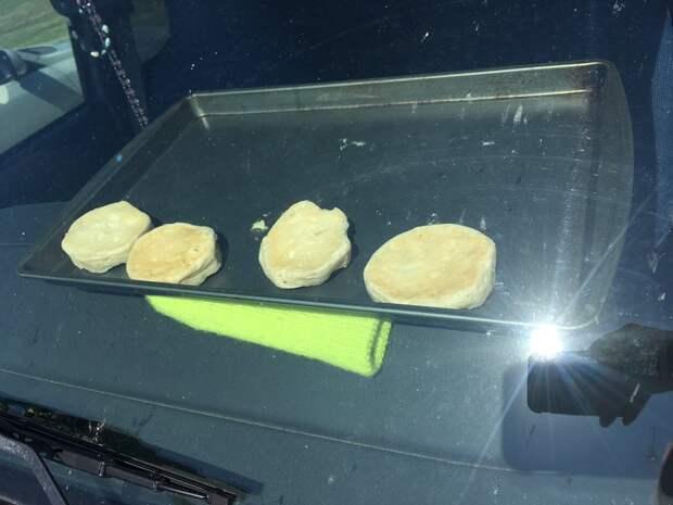 Метеорологи испекли печенье в автомобиле