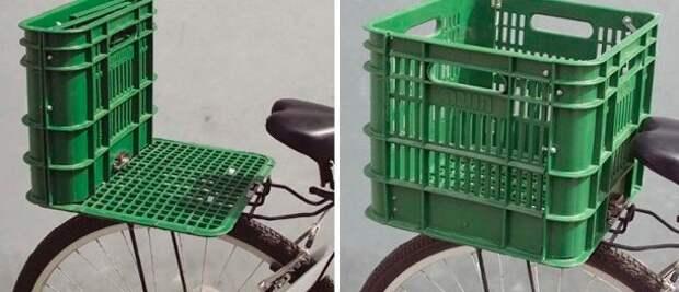 Корзина или сидение для велосипеда интересно, контейнер, поделки, полезный пост, своими руками, фото
