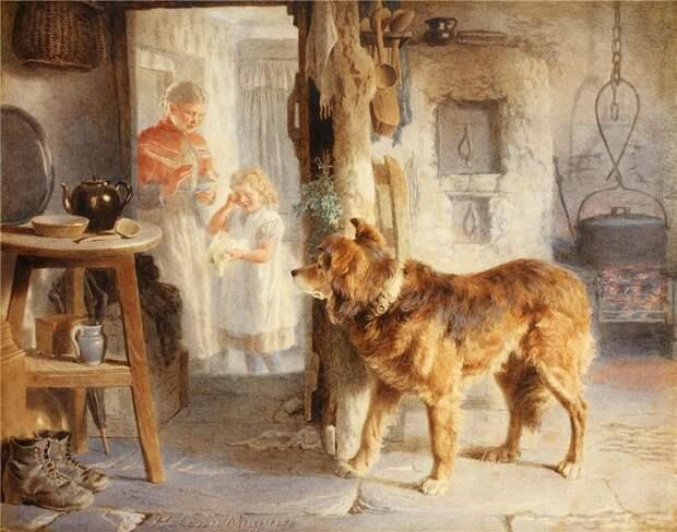 Домашние любимцы в душевных иллюстрациях 19 века.