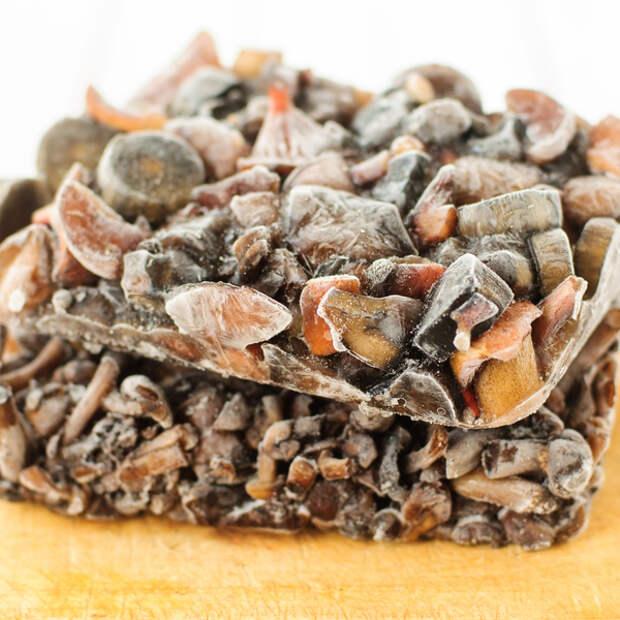 Жареные грибы можно хранить в морозильной камере