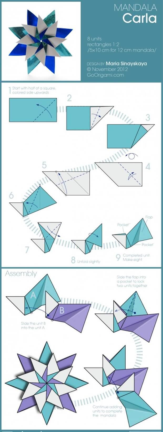 Оригами звезда из денег