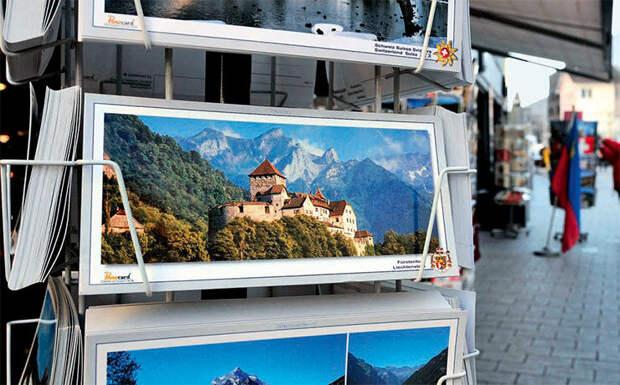 Открытки с видами замка Вадуц, княжеской резиденции, — хороший сувенир из Лихтенштейна