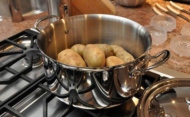 Увидели, как на Кубани отваривают картофель в мундире, с чесноком и укропом: чистится за секунды