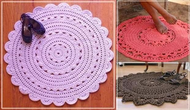 Царские круглые коврики в современном интерьере:  роскошные коврики-салфетки