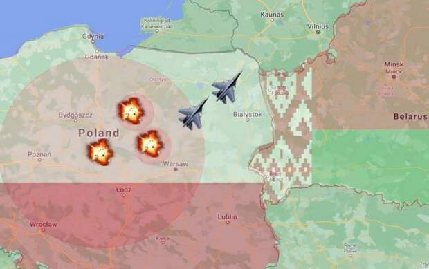 Победа будет за Минском: в США наглядно показали сценарий войны Польши и Беларуси