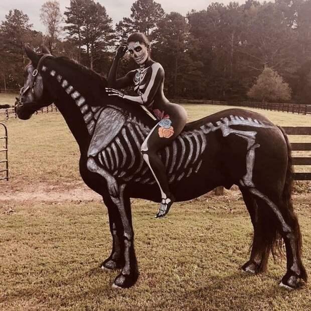 Косплей фото с лошадью