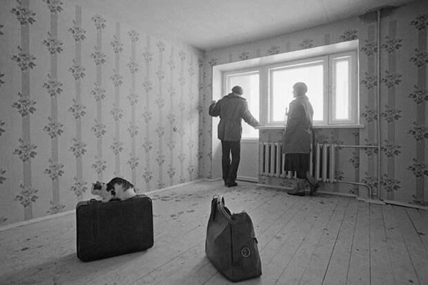 Иркутская область, 1981 г. Новоселы поселка строителей Байкало-Амурской магистрали. Фото: Рухадзе Анатолий/Фотохроника ТАСС