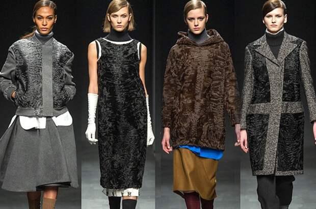 Модная одежда из каракуля и каракульчи
