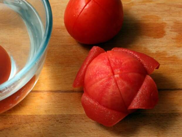 Бланшированный помидор