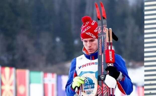 На фото: лыжник Александр Большунов