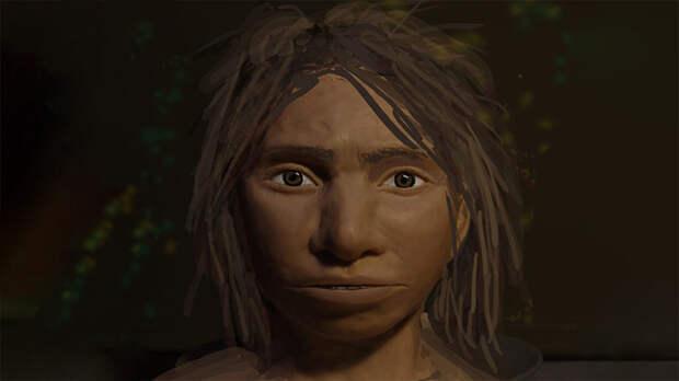 Изображение, демонстрирующее, как могло выглядеть лицо денисовской девочки