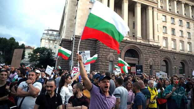В Софии началась массовая антиправительственная акция