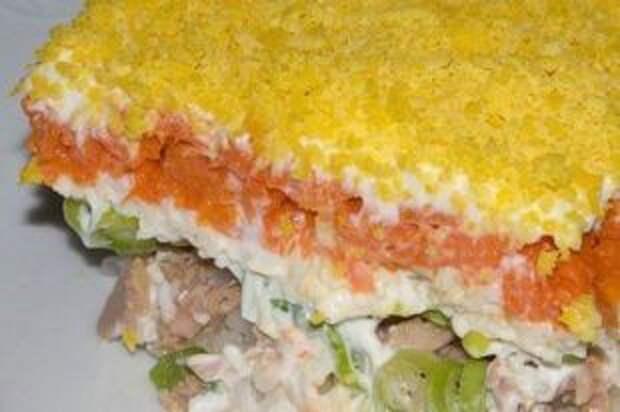 В каком порядке выкладываются слои для салата «Мимоза»?