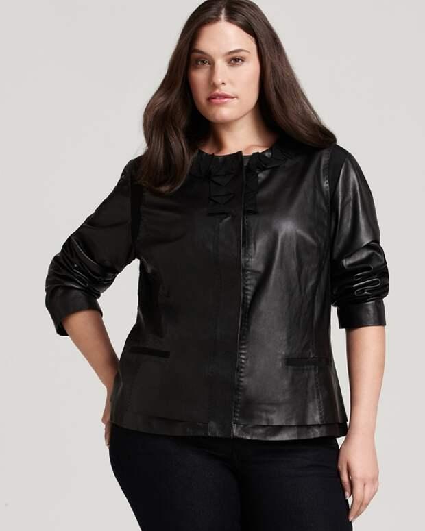 Кожаные куртки для полных женщин