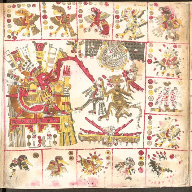 Кодекс Борджиа — мезоамериканский религиозный и пророческий манускрипт. \ Фото: deacademic.com.