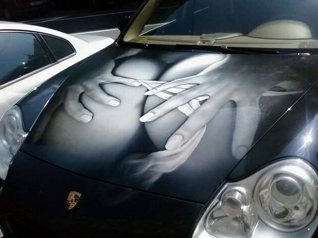 Изображения на капотах Автовсячина, авто, автомобиль, автоприкол, машина, прикол