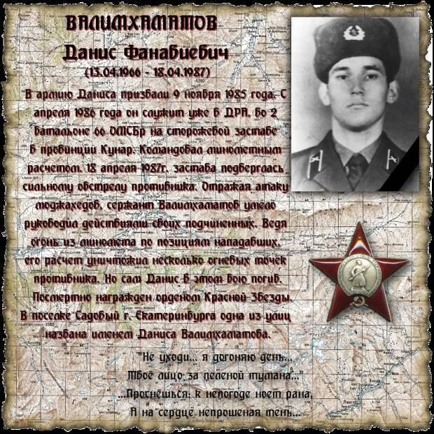 Сержант ВАЛИМХАМАТОВ Данис Фанавиевич