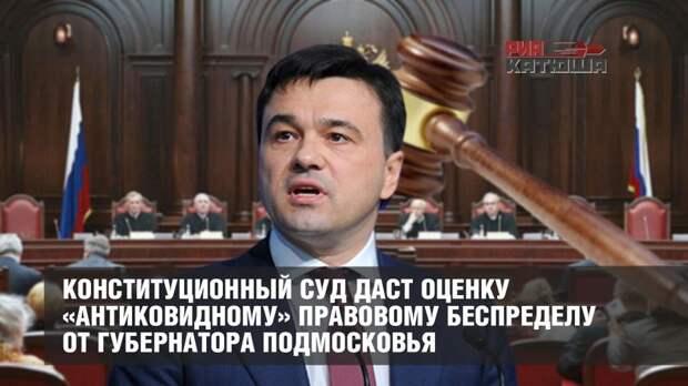 Конституционный суд даст оценку «антиковидному» правовому беспределу от губернатора Подмосковья