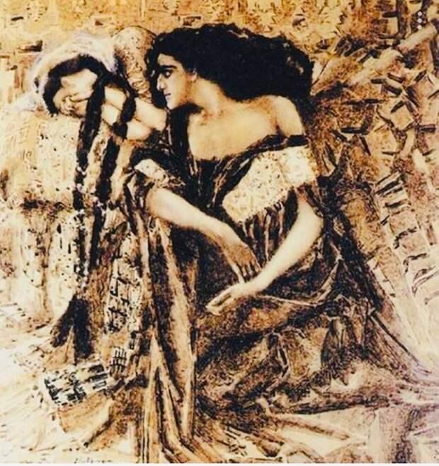 Михаил Врубель. Тамара и Демон, 1891 г.
