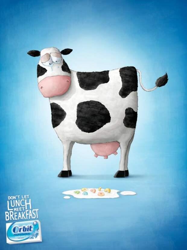 Wrigley Orbit: Cow, Orbit, Gitam BBDO, Israel, William Wrigley Jr. Company, Печатная реклама