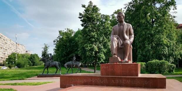 Памятник Михаилу Шолохову в Кузьминках отремонтируют