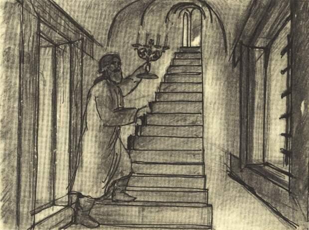 Рисунок-реконструкция Ю.П.Спегальского, Псков