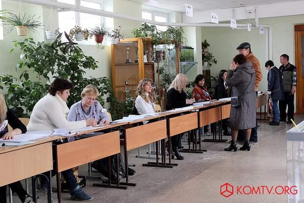 Избирательный участок №446 (школа №17) Выборы в Крыму 2018  1