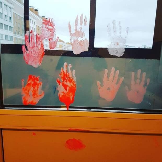 9. После папа отмывал квартиру минут 30 дети, дети и родители, нашкодили, оставили на 5 минут, смешно, фото