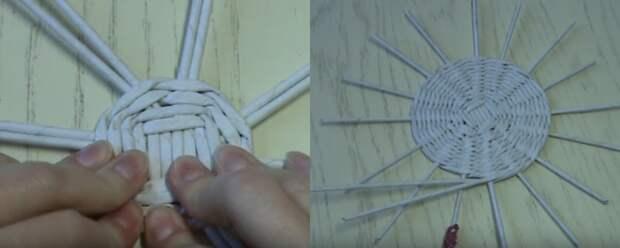 Прекрасная плетеная корзина для белья своими руками и буквально за копейки