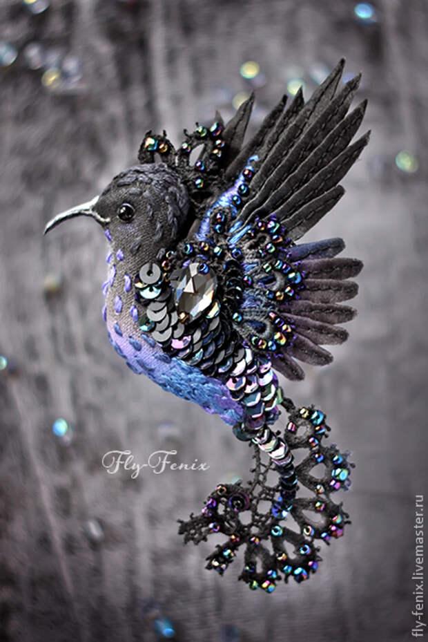 Изысканные бижутерные птицы Юлии Гориной, удивляющие  своей красотой и филигранностью работы