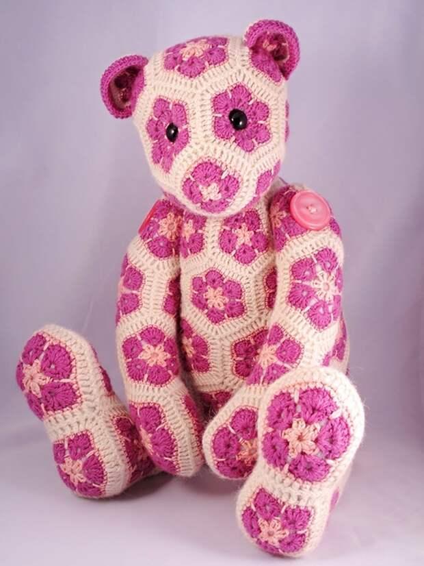 Цветочный фрагмент крючком АФРИКАНСКИЙ ЦВЕТОК для вязания игрушек (72) (525x700, 242Kb)