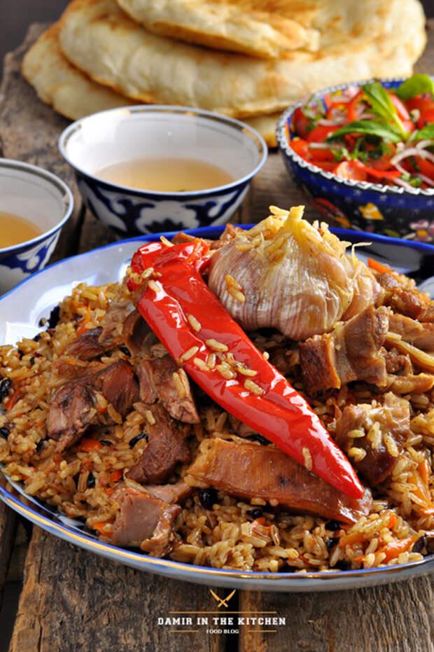 Чайханский плов (Узбекская кухня)