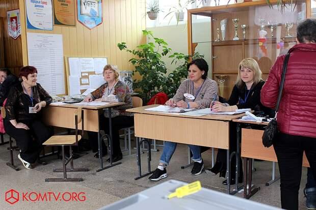 Избирательный участок №446 (школа №17) Выборы в Крыму 2018  111