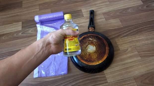 Удаляем многолетний нагар со сковороды